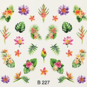 3d nail art sticker b227