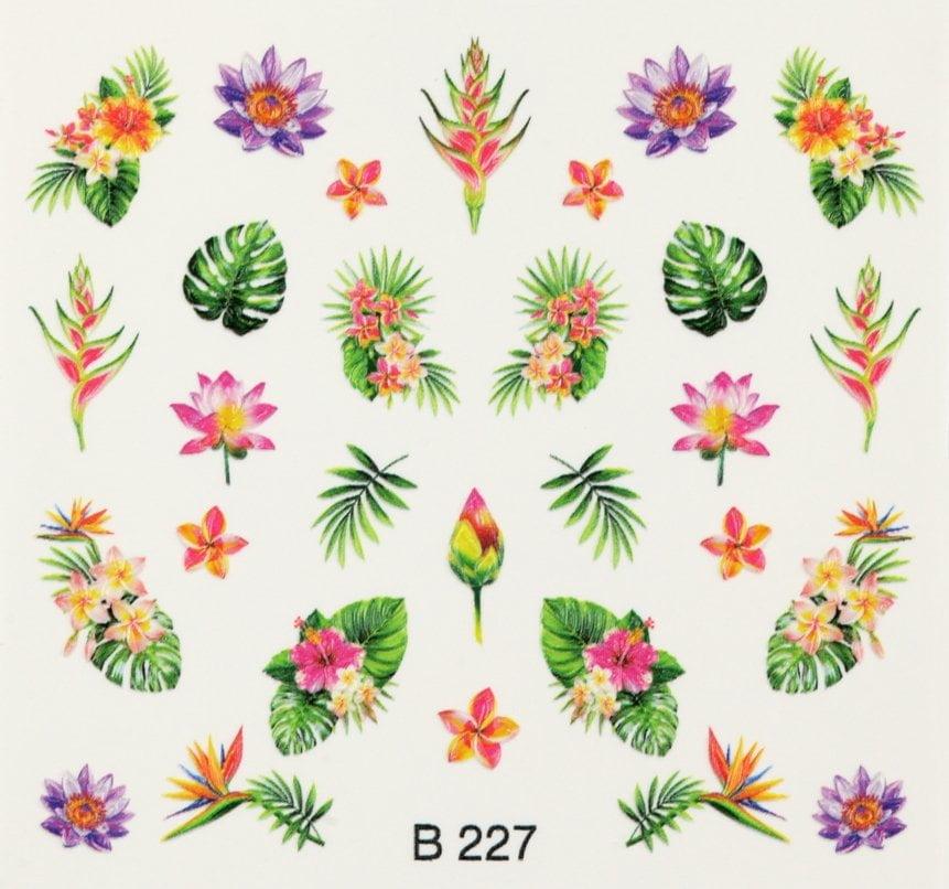 3d nail art sticker b227