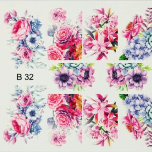 3d nail art sticker b32