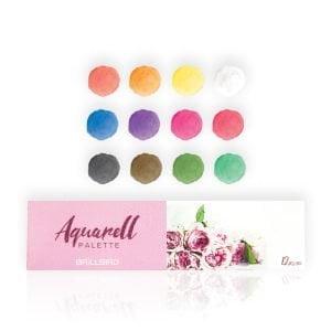 aquarelle palette 12 colors