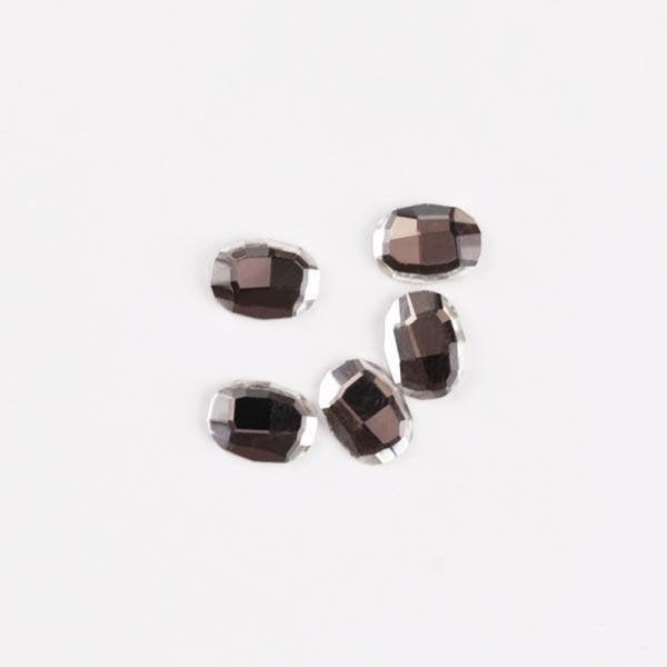Rhinestone oval crystal