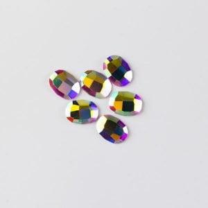 Rhinestone oval crystal ab
