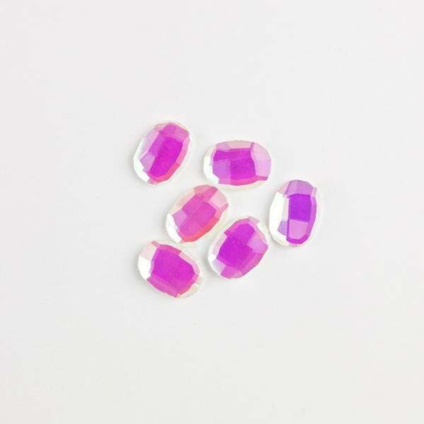 Rhinestone oval pink ab